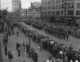 Military parade on Douglas Street to support the Victory Loan Drive