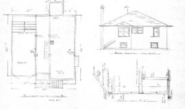 Plan of dwelling to be built for J. Politano on Lot [blank], Map [blank], Quadra ST., Victoria, B.C.