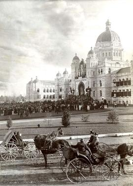 Memorial Service for Queen Victoria at the Parliament Buildings