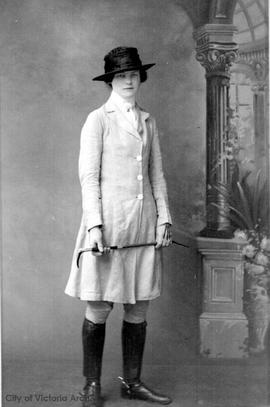 Mary Rattenbury in a riding habit