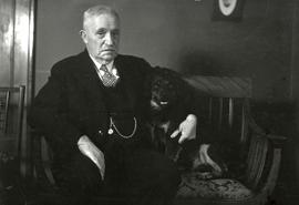 Mr. William Marchant with his dog