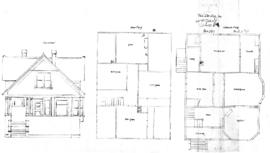 Plan, dwelling for Mr. H. Robert, David St.