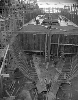 Ship under construction at Esquimalt