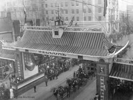 Chinese Arch, Royal visit Sept. 7, 1912