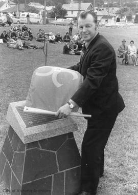 Esquimalt Secondary School celebrations for 1971 centennial opening of 400-meter track
