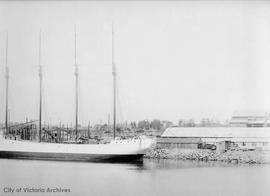 "Cholberg Shipyard, Lime Bay location.  The ""Washington"" at dock"