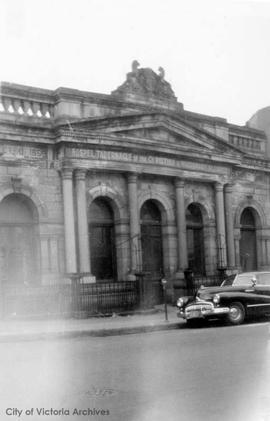 Bank of British North America, Yates Street.  Demolished 1949