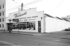779 Pandora Avenue. Woodward's Furniture Sales room
