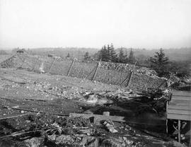 Construction of the Smith Hill Reservoir, Nov 13, 1908