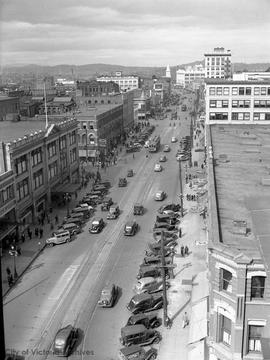 Douglas Street looking north from top of Campbell Building