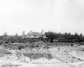 Thomas Wilson Paterson residence, 3150 Rutland Road, Oak Bay. Swimming pool under construction
