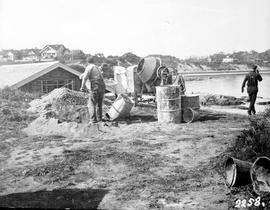 Construction of the Clover Point Boathouse