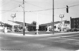 2500 Government Street at Bay Street. Pacific 66 gas station