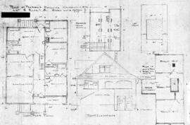 Plan of proposed dwelling, Caledonia Ave., Lot 4, Block 3, Subd. Lot 2, Victoria City