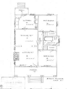 [Floor plans and elevations for single family dwelling]