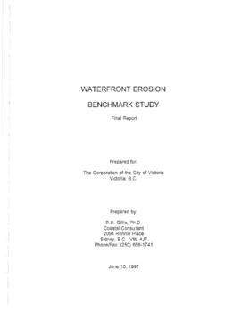 Waterfront erosion benchmark study