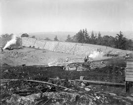 Construction of the Smith Hill Reservoir, Oct 9, 1908