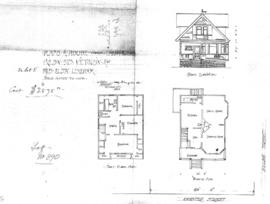 Plans of house, corner of Chester and Hilda Streets, Victoria, for Mrs. Eliza Lineham