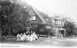 "Tea party at ""Iechineel"", 1701 Beach Drive, when HMS Kent was here"