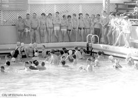 Chinatown Lions Club swim party at old Crystal Gardens