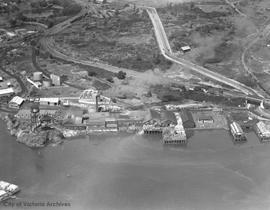 Aerial view of the Songhees Industrial Reserve