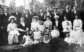 [Unidentified wedding. Savage Family]