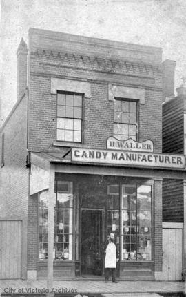Henry Waller, Candy Manufacturer located on Fort Street between Broad Street and Government Street