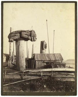 Totems at Masset, Queen Charlotte Islands