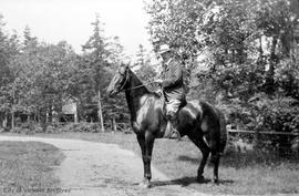 Francis Mawson Rattenbury on horseback