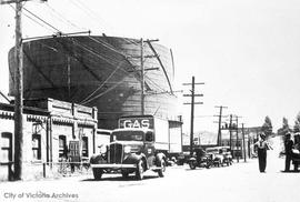 Victoria Gas Company's first truck on Pembroke Street