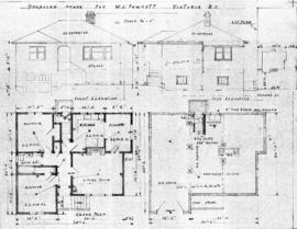 Proposed house for W.S. Fawcett, Victoria, B.C.