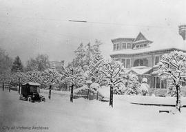 309 Belleville Street, W.J. Pendray residence, during the 'Great snow'