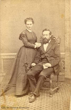 Wedding picture of P.T. Johnston and Agnes Hamilton