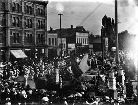 Parade on Douglas Street at Yates Street