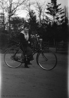 Myself [Mary Rattenbury on bicycle]