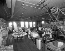 Interior of Colonist newspaper plant