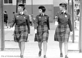 RCAF women don skirts of official blue plaid