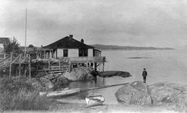 Home at the north end of Oak Bay Beach, now Haynes Park