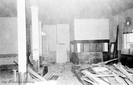 1 Centennial Square. Assessors area in City Hall during renovations at time of Centennial Square construction