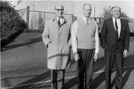 Garbage wharf employees L to R: James Garnett, Bill Hook, Bert James