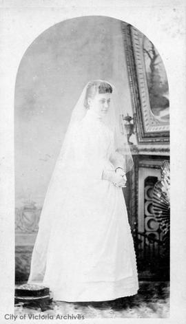 Florence Eleanor Rattenbury nee Nunn on her wedding day