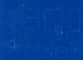 Plans for duplex bungalow designed for Mr. R. Jessie [sic], owner, by M. Lamont, builder, to be e...