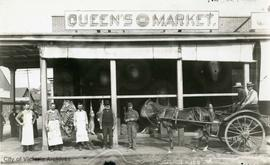 Queen's Meat Market, corner of Government Street and Johnson Street