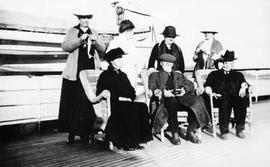 "Group on the Dunsmuir's yacht ""Dolaura"""