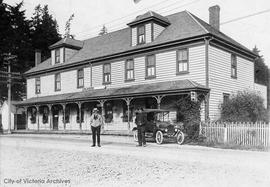 "Colwood Hotel.  It was located on what is today the Old Island Highway at ""Colwood Corners&q..."