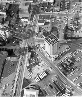 Aerial view of Douglas Street and Humboldt Street