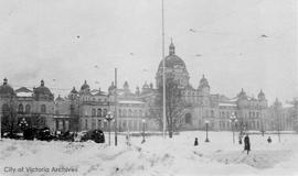 Parliament Building in the snow