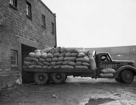Unloading nuts at 1617 Store Street