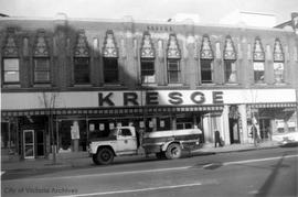Kresge's, Douglas Street with City truck