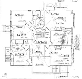 [Addition of bathroom to one-storey house with basement]